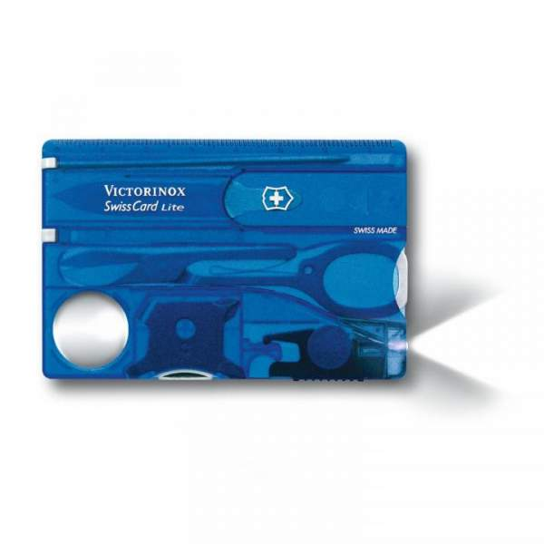 Victorinox SwissCard Lite, blau-transparent, 0.7322.T2