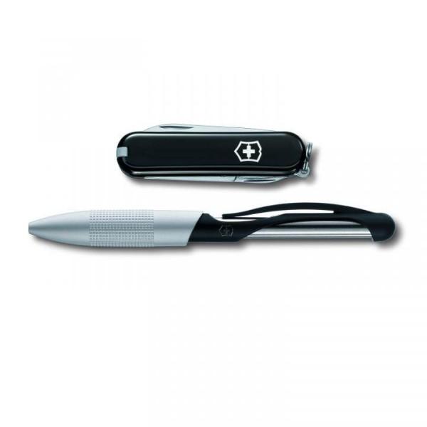 Victorinox Set Cabrio Pen mit Taschenmesser Classic schwarz 4.4343.3