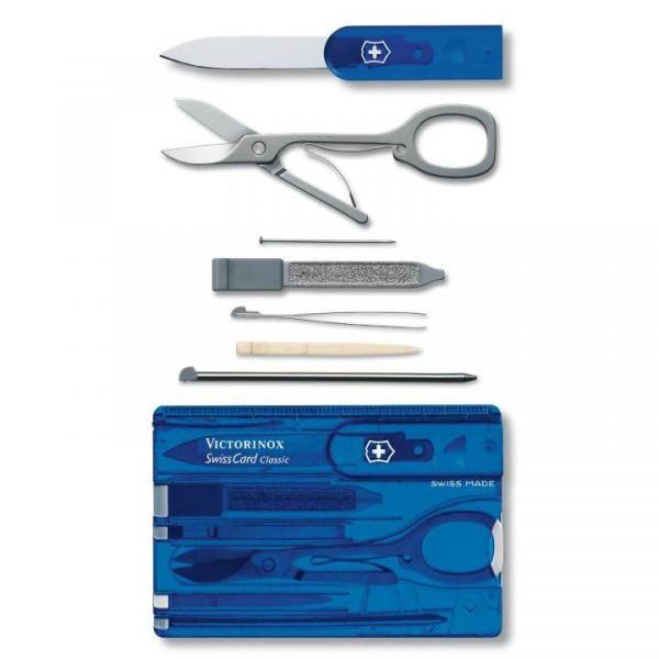 Victorinox SwissCard Classic, blau-transparent, 0.7122.T2